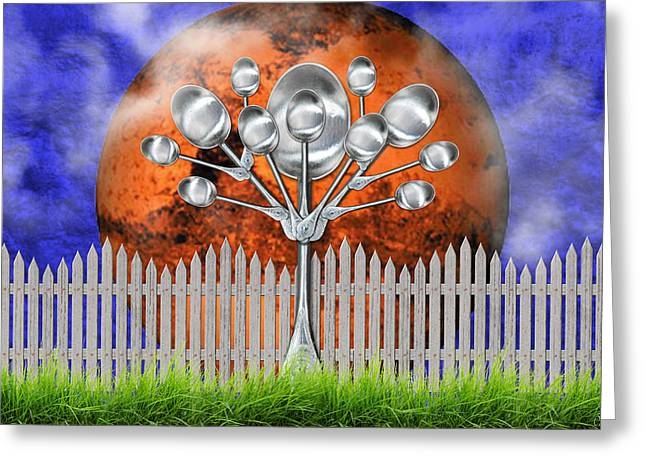 Spoon Tree Greeting Card by Ally  White