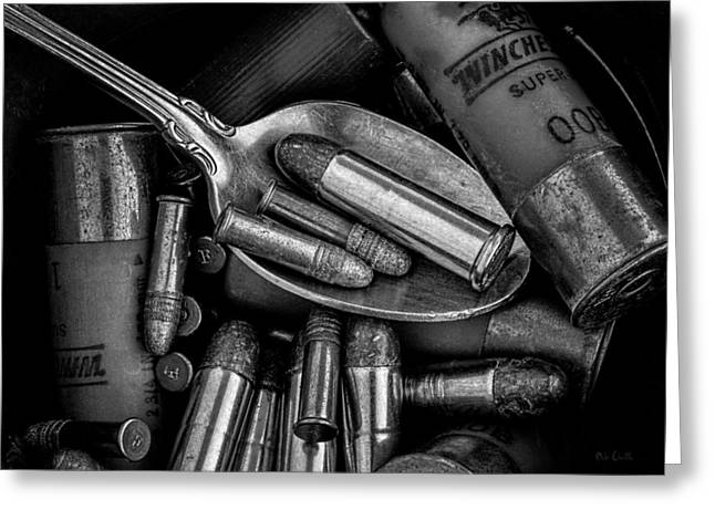 Spoonful Of Bullets Greeting Card by Bob Orsillo