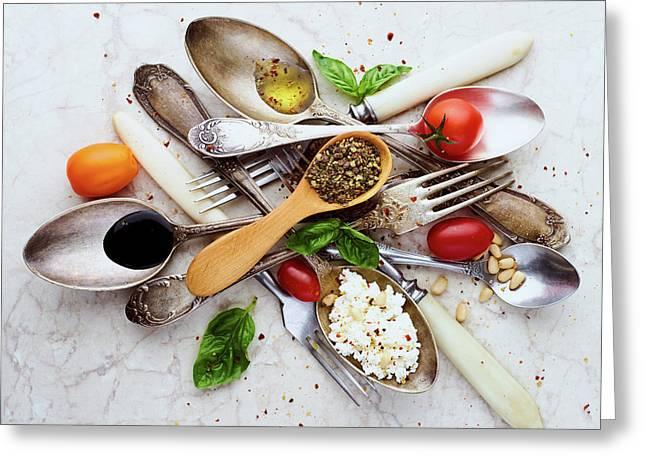 Spoons&salad Greeting Card