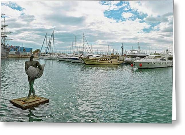 Sport Harbor And Marina, Alicante, Spain Greeting Card by Panoramic Images