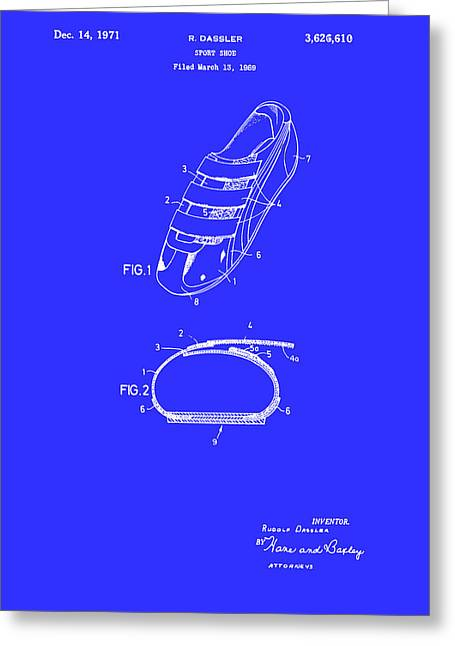 Sport Shoe Patent 1971 Greeting Card