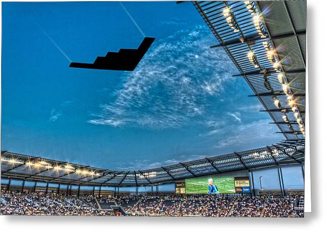 Sporting Flyover Greeting Card