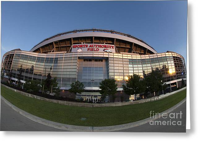 Sports Authority Field At Mile High Greeting Card by Juli Scalzi