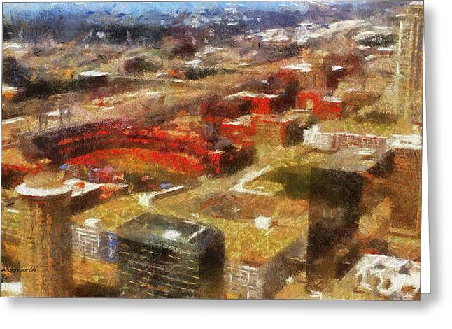 Sports Busch Stadium 03 Photo Art Greeting Card by Thomas Woolworth