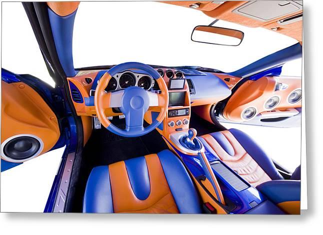 Sports Car Interior Greeting Card by Ioan Panaite