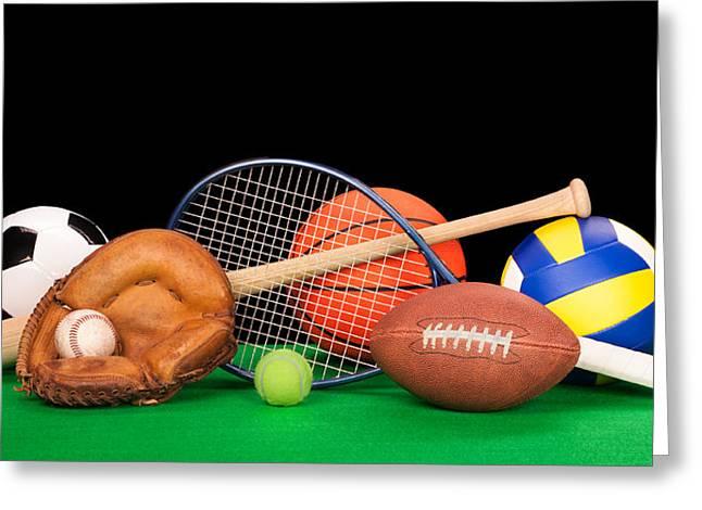 Sports Equipment Greeting Card by Joe Belanger