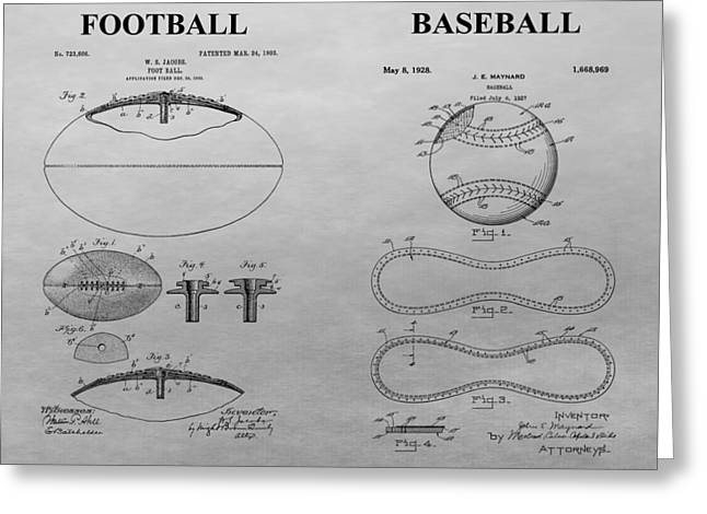 Sports Equipment Patent Greeting Card by Dan Sproul