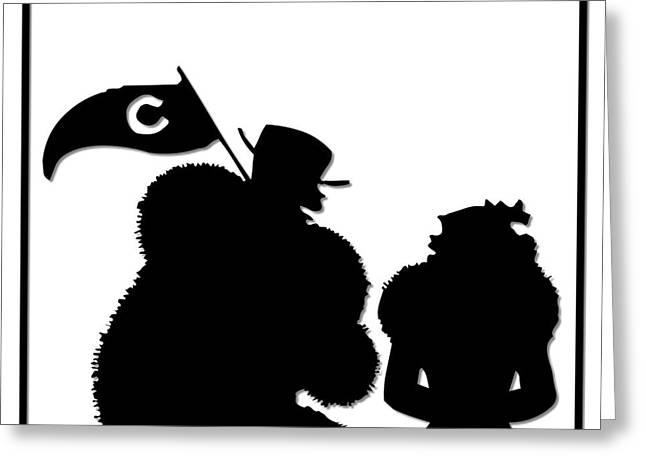 Sports Fans Silhouette Greeting Card