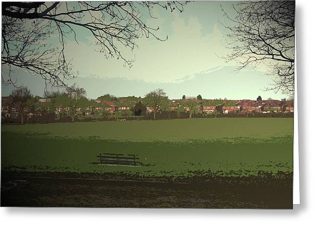 Sports Fields Near Burton Road, The Crescent Seen Here Greeting Card by Litz Collection