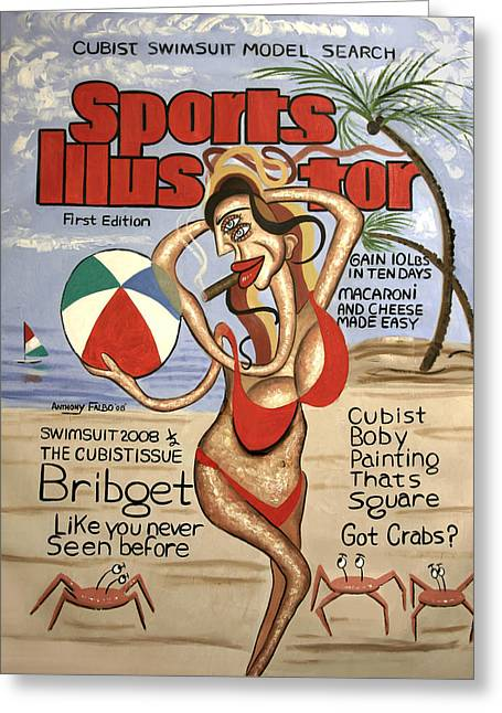 Sports Illustrator Swimsuit Edition Greeting Card by Anthony Falbo