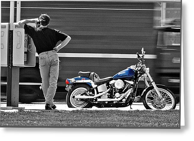 Sportster Calling Greeting Card by Christopher McKenzie