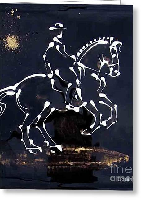 Spotlight Lusitano Greeting Card by Diane Schell