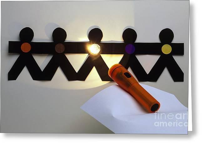 Spotlight On Paper Men Greeting Card