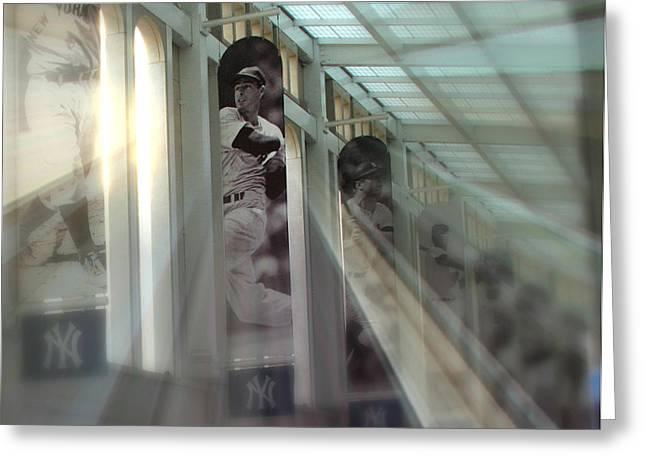 Spotlight On The Yankee Clipper Greeting Card by Aurelio Zucco