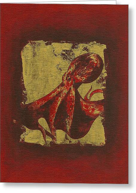 Spotted Red Octopus Greeting Card