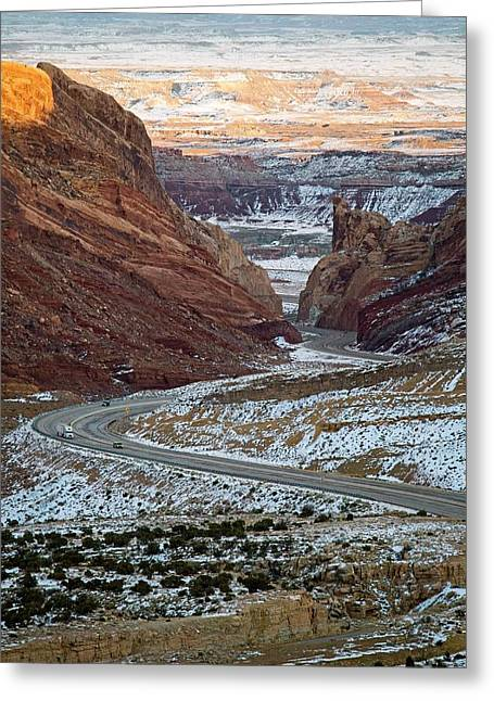 Spotted Wolf Canyon Greeting Card by Jim West