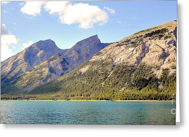Spray Lake Mountains Greeting Card