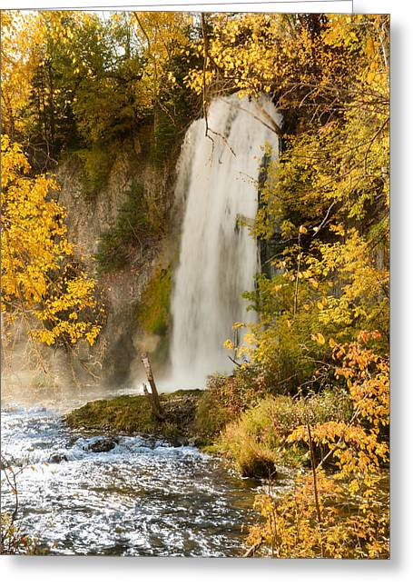 Spray Rises From Spearfish Falls Greeting Card