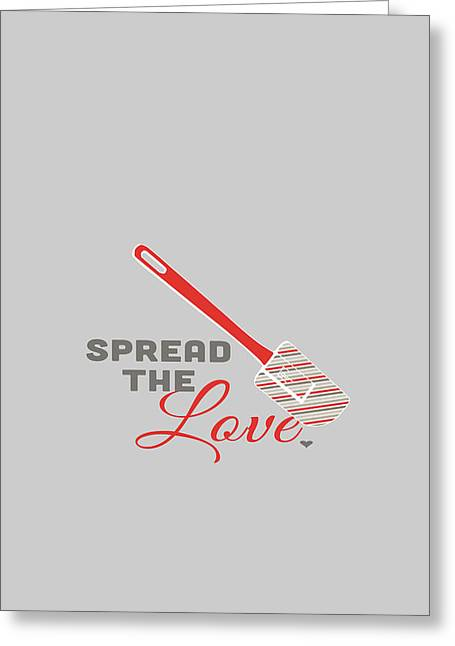 Spread The Love In Red Greeting Card by Nancy Ingersoll