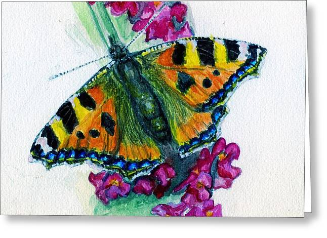 Spreading Wings Of Colour Greeting Card