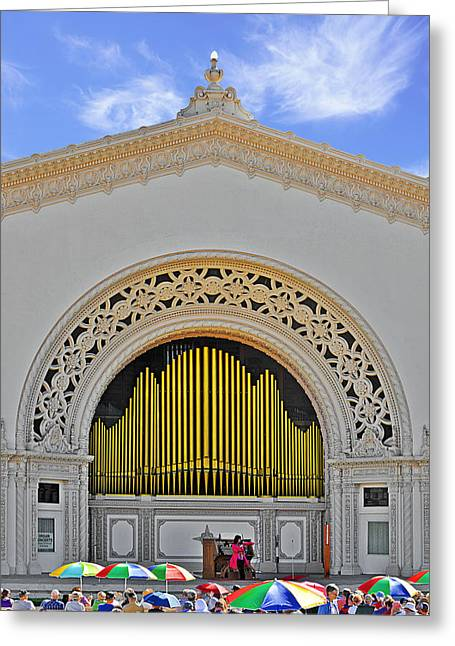 Spreckles Organ San Diego Greeting Card by Christine Till