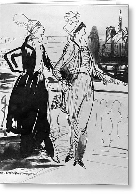 Sprinchorn Women, 1914 Greeting Card