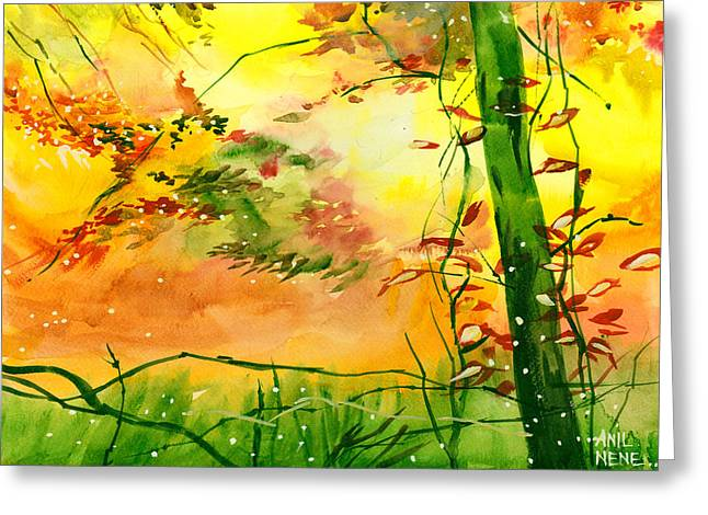 Spring 1 Greeting Card by Anil Nene