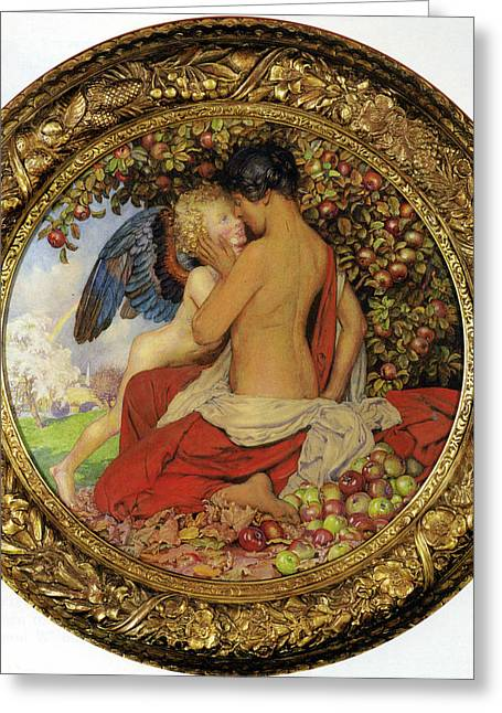 Spring And Autumn Greeting Card by Eleanor Fortescue Brickdale