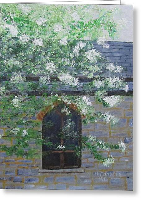 Spring At Grace Church Greeting Card