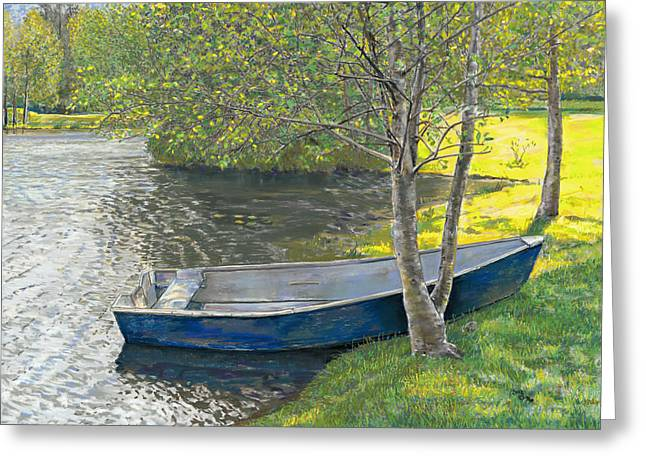 The Blue Rowboat Greeting Card
