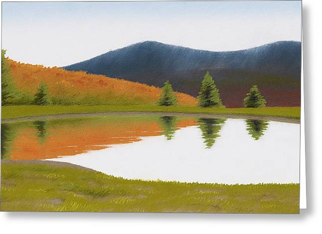 Spring At Three Sisters Pond Greeting Card by Bruce Richardson