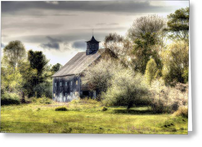 Spring Barn Greeting Card by Richard Bean