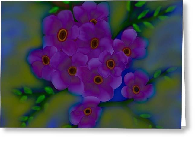 Greeting Card featuring the digital art Spring Blossoms by Latha Gokuldas Panicker