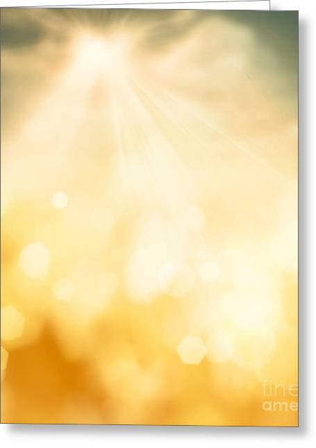 Spring Bokeh Background Greeting Card