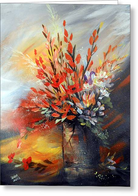 Greeting Card featuring the painting Spring Branches by Dorothy Maier