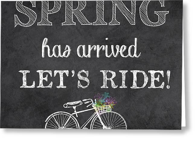 Spring Chalkboard Art-10 Greeting Card