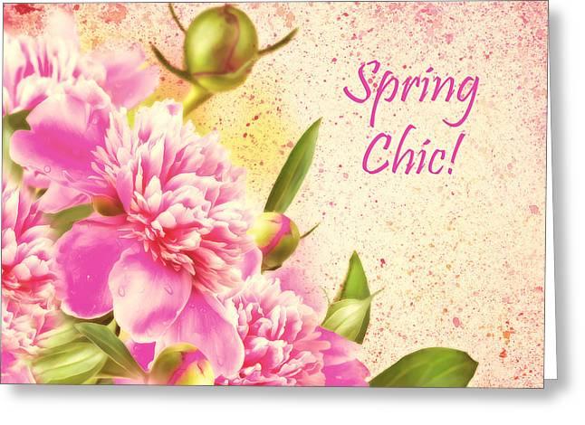 Spring Chic Greeting Card by Georgiana Romanovna