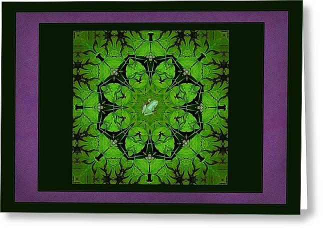 Spring Chorus Mandala Greeting Card by I'ina Van Lawick