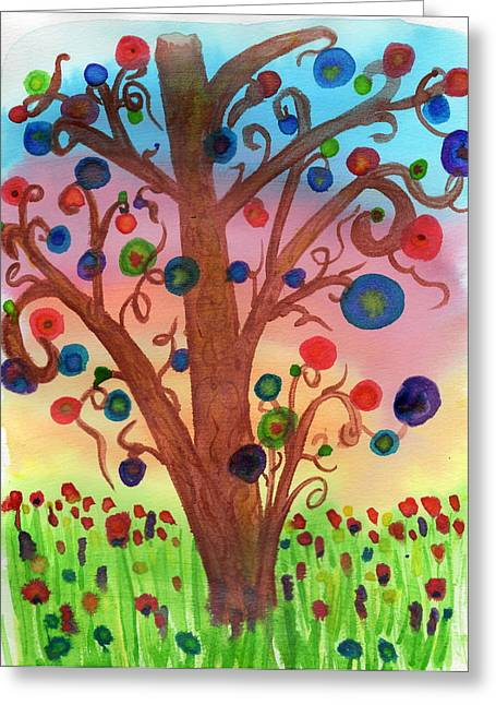 Spring Circles Greeting Card