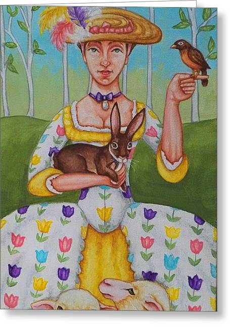 Spring Colonial Greeting Card by Beth Clark-McDonal