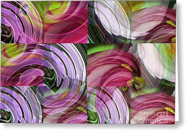 Spring Colors Greeting Card by Sarah Loft