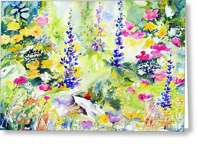 Greeting Card featuring the painting Spring Colour by John Nussbaum