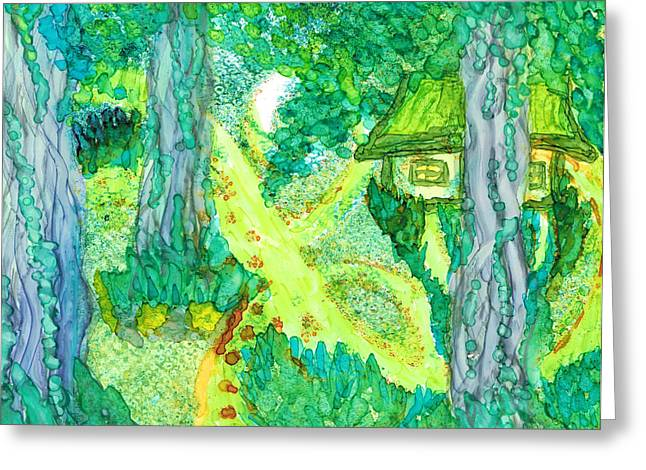 Spring Cottage Too Greeting Card