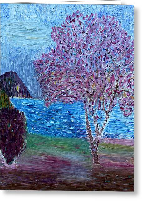 Spring Crabapple Tree Greeting Card by Vadim Levin