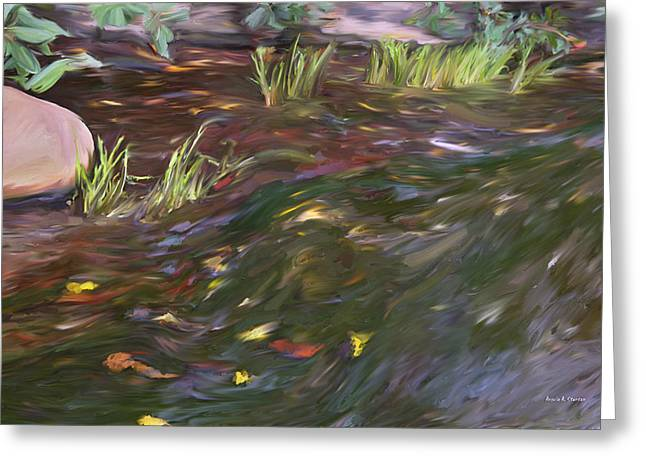 Spring Creek In Oak Canyon Park Greeting Card by Angela A Stanton