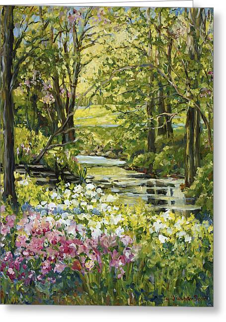 Spring Creek Rockford Il Greeting Card by Alexandra Maria Ethlyn Cheshire