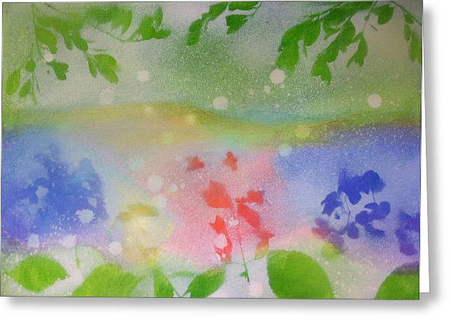 Spring Dance Greeting Card by Michelle Hoshino