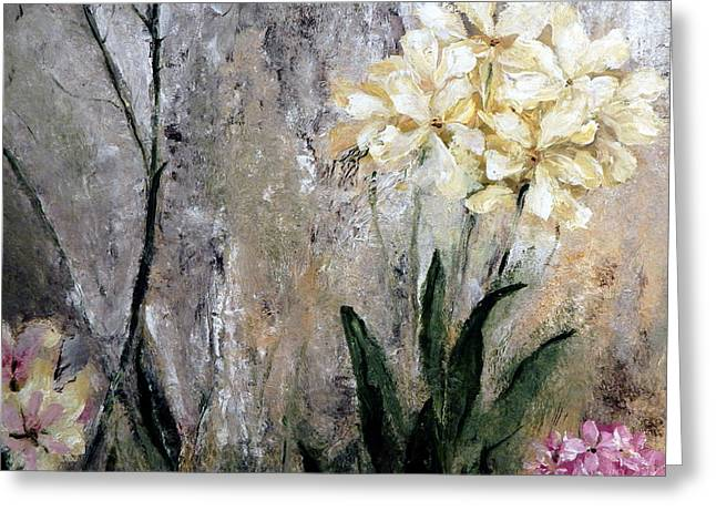 Greeting Card featuring the painting Spring Desert Flowers by Lisa Kaiser