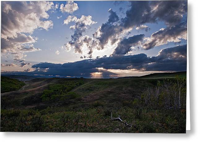 Spring Drama In The Foothills Sky Greeting Card