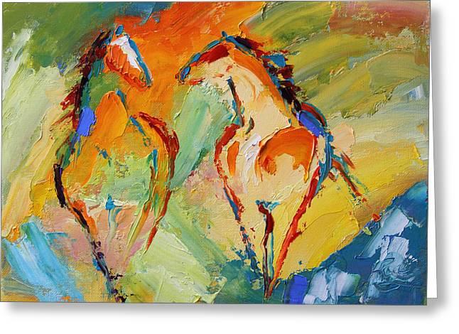 Spring Fever Horse 14 2014 Greeting Card